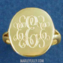 Monogrammed Taylor Ring | Marley Lilly