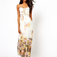 Little Mistress Maxi Dress in Floral Print