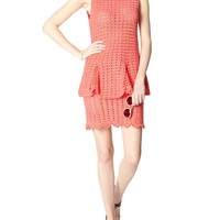 Coral Crochet Chic Chic Dress | Michaela Buerger | Avenue32