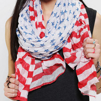 Stars &amp; Stripes Oversized Scarf