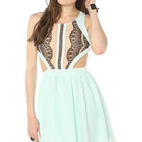 LA Boutique Dress Made For You Mini in Mint