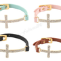 Buckle Cross Bracelets with Rhinestones Available by Fashionallble