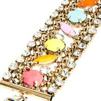 ASOS Colour Stone Chain Bracelet at asos.com
