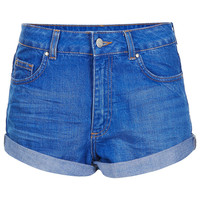 MOTO High Waisted Denim Shorts - Shorts - Clothing - Topshop USA