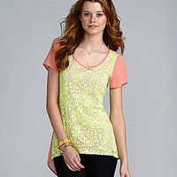 GB Neon Lace Tunic | Dillards.com