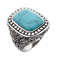 Dillards Boxed Collection Antique Cut Turquoise Ring | Dillards.com