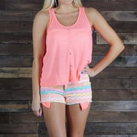 Zippin Into Summer Shorts-Neon Pink