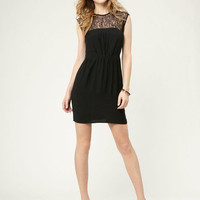Lace Yoke Pleated Dress by Twelfth St. By Cynthia Vincent brought to you by Gilt