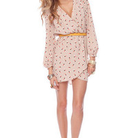 It&#x27;s a Wrap Dress in Blush Dots :: tobi