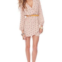 It's a Wrap Dress in Blush Dots :: tobi