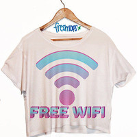 Free Wifi Crop Top | fresh-tops.com