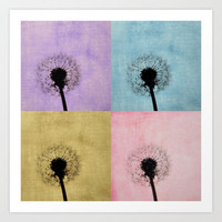 the dandelion Art Print by Beverly LeFevre