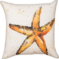 Handpainted Starfish Climaweave Pillow | OceanStyles.com