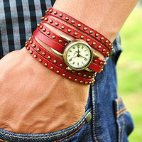 Retro Style Simple leather wrist watch,Handmade Unisex  Personalized  Watch leather wrist watch Bracelet 2261S