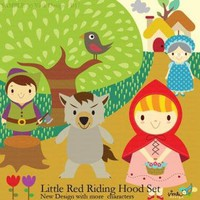 NEW Little Red Riding Hood Clip Art Set by Vink Design on Zibbet