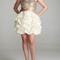 Homecoming Glitter Tulle Pick Up Dress - David's Bridal - mobile