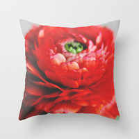 Frilly Throw Pillow by Christine Hall