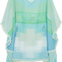 Athena Procopiou | The Tribe&#x27;s Sari cotton and silk-blend kaftan | NET-A-PORTER.COM