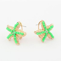 Neon Fashion Starfish Earrings | LilyFair Jewelry