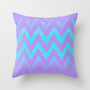 disappearing chevron Throw Pillow by Marianna Tankelevich