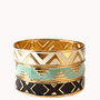 Zigzag Patterned Bangle Set | FOREVER 21 - 1016833484