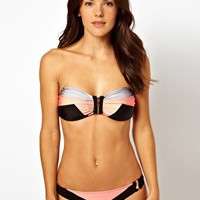 River Island Dakota Colour Block Bikini Brief at asos.com