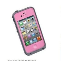 Waterproof Shockproof Pc Case Life Dirt Proof Cover for Iphone 4 4s-pink