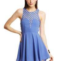 ENGLISH ROSE Marine Sleeveless A-Line Dress
