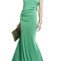 FRAN ASYMMETRICAL DRAPED DRESS