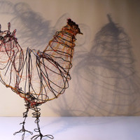 Wire Chicken Sculpture