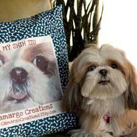 Personalized Dog Photo Portrait Pillow by CamargoCreations on Etsy