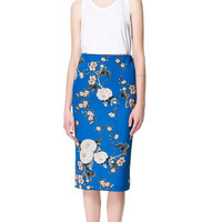 PRINTED PENCIL SKIRT - Woman - New this week - ZARA United States