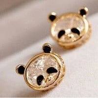 Cute Panda Rhinestone Fashion Earrings | LilyFair Jewelry
