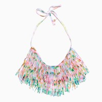L*Space - Women's Audrey Fringe Halter Top (Multi)