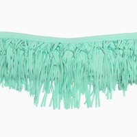 L*space - Women's Knotted Fringe Dolly Bandeau Top (Pistachio)