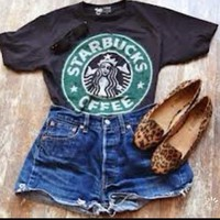 Starbucks Logo Tee - skreened @youregonnalovethis