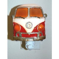 Red Van LED Night Light - Hippy Groovy Decor