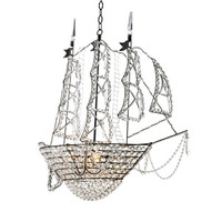 Sailing Ship Crystal Chandelier in Custom Colors