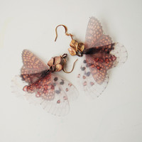 Crowned Fluttery Butterflies Earrings Ready To Ship by jewelera