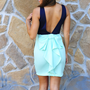 Better With Bows Dress: Navy/ Mint | Hope&#x27;s