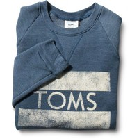 Women&#x27;s Heather Dark Blue TOMS Classic Crew