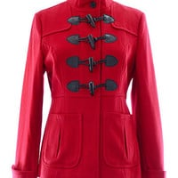 Cherry Red Wool Coat by Tulle Clothing