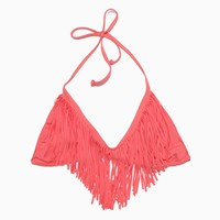L*Space - Women's Audrey Fringe Halter Top (Watermelon)