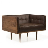 Box Sofa Armchair - Sofas + Pouffes + Lounge Seating  - Living