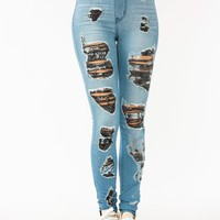distressed-skinny-jeans BLUEGREY - GoJane.com