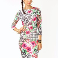 mixed-print-rose-dress BLACKFUCH - GoJane.com