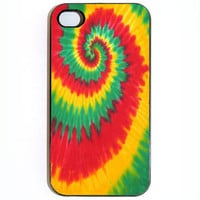 iPhone 4 4s Case Tie dye Jamaican Rasta Reggae by KustomCases