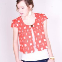 Ikat jacket orange - Jackets - Clothing - Shop