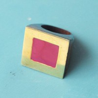 Enamel ring pink - Rings - Jewelry - Shop