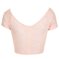 Tall Lace Crop Top - Clothing - - Topshop USA
